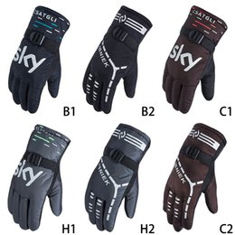 brown motorcycle gloves men NZ - Outdoor Below Zero Cycling Motorcycle Gloves Men Women Waterproof Winter Ski Gloves Windproof wWarm Snowboard