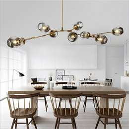 Modern Dining Light Online Shopping   Modern Branching Bubble Led Pendant  Lights Gold Black Body Nordic