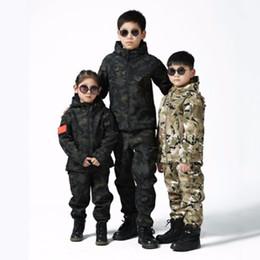$enCountryForm.capitalKeyWord Australia - Upgraded Kids Outdoor Camo Soft Shell Clothes CS Fishing Hunting Children Sets Trekking Hiking Riding Sports Jacket Pants Suits