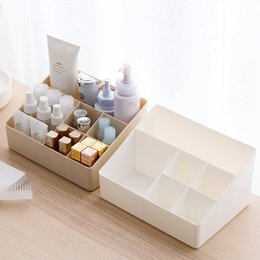 Office Drawer Box Australia - wholesale Makeup Organizer Storage Box Desk Office Organizer Cosmetics Skin Care Plastic Storage Drawer Jewelry Box Drop