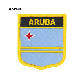 $enCountryForm.capitalKeyWord UK - ARUBA Flag Embroidery Iron on Patch Embroidery Patches Badges for Clothing PT0236-S