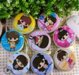 Coin Shape Dresses NZ - 8pcs pocket purse for children gifts pocket keys coin receipt bag earphone bag wholesale