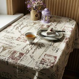 polyester table covers 2019 - Tower Decorative Table Cloth Tablecloth Rectangular Dining Table Cover Cloths Tower Pattern Table Cover Home Textiles De