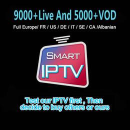 Venta al por mayor de Mejor IPTV suscripción 9000+ Vivo Y 5000 + VOD Para Francia Italia Caribe CA Ayuda TV CAJA Smart TV Box MAG M3u