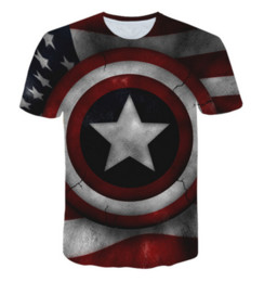 8d45a010b35 New Fashion Men Women Summer Style Captain America Funny 3D Tees Printed Short  Sleeve Round Neck Casual T-shirt Tops DX0144