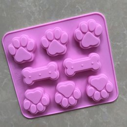 $enCountryForm.capitalKeyWord Australia - Non-stick silicone cat claw candy making mold trays handmade soap mould cake decoration mould dog bone paw mold for puppy treats