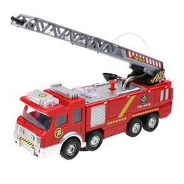 red toy trucks Australia - Electric Fire Truck Water Spray Fire Engine Car Toy Kids Educational