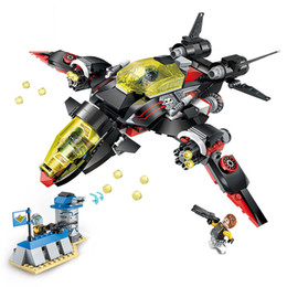 $enCountryForm.capitalKeyWord Australia - 381pcs Children's Educational Building Blocks Toy Compatible City Military Series Black Lightning Bomber Figures Bricks J190719