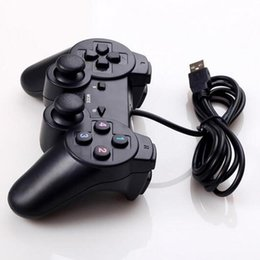 computer wireless controller NZ - Wired USB Controller Gamepad For WinXP Win7 Win8 Win10 For PC Computer Laptop Black Game Joystick