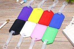 plastic travel bag tags UK - Travel accessories luggage tag hard PP baggage check in card size 9 by 5 name card bag tag colors available