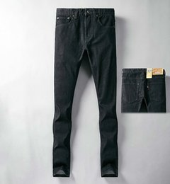 51f3fefc060823 Men's black pants Denim jeans Zipper Fly trousers fashion New product 2019  Wholesale prices Pretty Cool Shiny spots