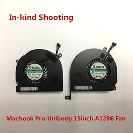 Wholesale Original New A1286 Fan for Macbook Pro Unibody inch year CPU Cooler Fan Left Right laptop MG62090V1 Q030 S99 MG62090V1 Q020 S99