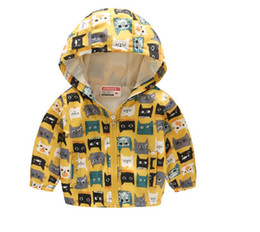 cute girls baby model UK - Factory outlets Boys and girls explosion models Jackets spring and autumn thin hooded baby cute fashion zipper shirt children's jacket