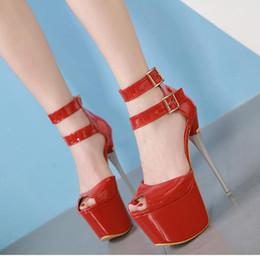$enCountryForm.capitalKeyWord Australia - 16cm Ultra high heels platform pumps red wedding shoes bridal women designer shoes size 35 to 40