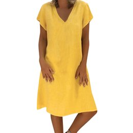 $enCountryForm.capitalKeyWord UK - 2019 Dress Women Summer Style Feminino Vestido T-shirt Cotton Casual Plus Size Ladies vestidos de fiesta #25 Dropshipping
