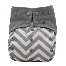 Adjustable Cloth Diapers Australia - Baby Diaper Cover Charcoal Bamboo AIO Cloth Diapers Sewed Insert Baby Nappies Size Adjustable Reusable Pocket Diaper for Night