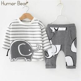 $enCountryForm.capitalKeyWord Canada - Humor Bear Baby Boys Clothes Baby Boys Clothing Sets Fashion Cartoon Style Long Sleeve + Pants 2pcs Suits J190520