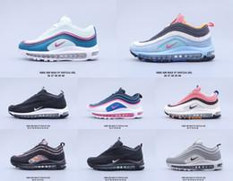 97 Bullet 2020 OG Invaincu Argent Olive Bredairmax 97 femmes de rayon de soleil 97s coussin sneakers sport hommes chaussures de course en Solde