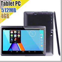848 2018 7 inch Capacitive Allwinner A33 Quad Core Android 4.4 dual camera Tablet PC 4GB 512MB WiFi EPAD Youtube Facebook Google A-7PB on Sale