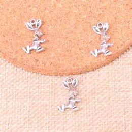 Happiness necklace pendant online shopping - 167pcs Antique Sliver happiness rabbit Charm Pendant DIY Necklace Bracelet Bangle Findings mm