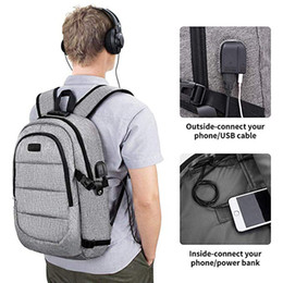Back Packs For Men Australia - Anti-theft Smart Anti Theft For Laptop Backpack Male Man Notebook With Charging School Bag Sac A Dos Schoolbag Bagpack Back Pack