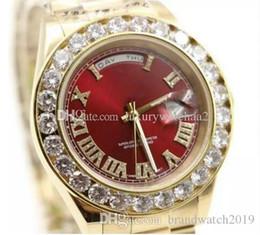 $enCountryForm.capitalKeyWord Australia - Luxury womens watch 18K Gold President Day-Date Geneva Diamonds Dial Big Diamond Bezel Automatic Wrist Watch Mens Limited Edition Watches