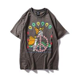 Italian Mens T Shirts Australia - Summer Leisure Loosen Pure Cotton Short Sleeve T-shirt Luxury Italian Brand Male Mens Clothing graphic shirt t for tshirts brands 0308