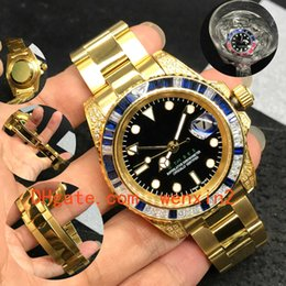 $enCountryForm.capitalKeyWord Australia - 7 Color Luxury Watch GMT2813 Automatic Stainless Steel Submersible Blue And Red Diamond Outer Ring 41mm Silver Oyster Bracelet For Men