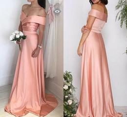 $enCountryForm.capitalKeyWord UK - Sexy Off Shoulder Mermaid Bridesamid Dresses Blush Pink Long Cheap Wedding Guest Gown Miad Of Hinor Dress BM0901