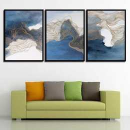 Art Canvas Prints Australia - Canvas Painting Print HD Picture Poster Wall Abstract The Scenery Nordic Watercolor Art Living Room Bedroom Bedside Home Decor