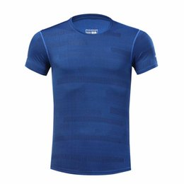 running stretch tight Australia - Hot Quick Dry Sports Shirt Men Running Fitness T Shirt Tops Tights Stretch Breathable Soccer Basketball Jersey Gym Sportswear