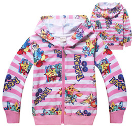 Kids sweatshirts for girls online shopping - 2018 new children cute cartoon go cotton Sweater Spring Long sleeve sport Hoodie for girl kid pikachu zipper Sweatshirt