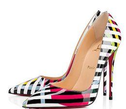 2820222eca5c Christian fabriC online shopping - Christian Louboutin CL Fashion pump  patent leather high heel ladies wedding