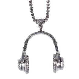 Music necklace pendants online shopping - Music Headset Long Necklace gold black silver Color Hip Hop Jewelry Beautifully Accessories Popular Headphones Pendant Necklace