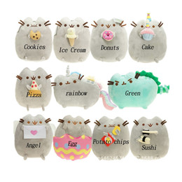 Chinese  Cheese Cat Sweet Cat Plush Doll 7inch 9inch Pusheen The Cat Pusheen with Cookie Plush Soft Toy Stuffed Animal BRAND NEW A manufacturers