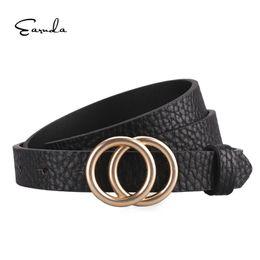 $enCountryForm.capitalKeyWord NZ - Earnda Designer Belt Gold Buckle Waist Belts For Women's Jeans Skinny Leather Strap High Quality Cinturon Mujer C19041101