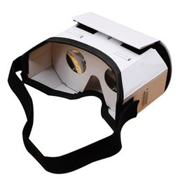 virtual glasses for iphone 2019 - 2018 Light Castle Card Style Virtual Reality VR BOX II Glasses For 3.5 - 6.0 inch Smartphone Glass for iphone samsung ch