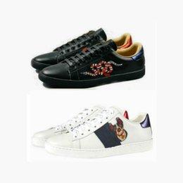 9f9ef687912 Big Size 35-48 us13 Plus chaussures de designer Mix 15 modèles Chaussures  en cuir Ace Top Marque de luxe chaussures de sport avec tigre fleur abeille