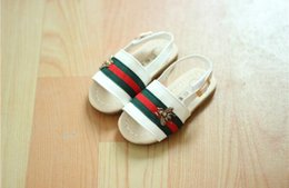 Wholesale 2019 Luxury Shoes Sandals Little bee stripe Girls Sandals Summer Children s Gifts