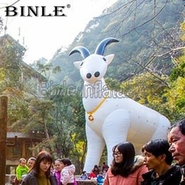 Goat costumes online shopping - Custom made giant inflatable goat advertising white inflatable sheep costume inflatable ram model for event decoration