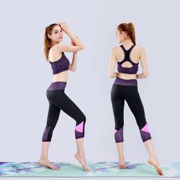 $enCountryForm.capitalKeyWord Australia - 2019 Women Yoga Set Sports Top Vest +quick-drying Leggings Fitness Clothing Running Tights Jogging Workout Yoga Leggings Sport Suit