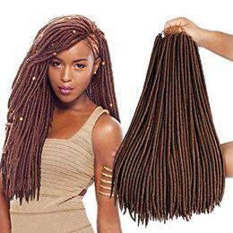 $enCountryForm.capitalKeyWord Australia - Straight Faux Locs Crochet Hair 18 Inch Goddess Locs Braids Hair Synthetic Afro Soft Braiding Hair Extensions(27#)