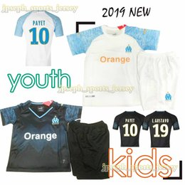 f371193b0 Marseille Season football jersey Kids Kit 2019 Marseilles PAYET THAUVIN  OCAMPOS LASS SANSON soccer jerseys Uniform Team Child