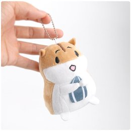 electronic hamsters NZ - Hamster holding melon seeds plush pendant toy doll market clamshell doll plush keychain 10cm 3colors wj04
