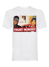 biggie shirts 2019 - TRUST NOBODY, PAC AND BIGGIE MEN'S COTTON CREW NECK T-SHIRT 3D T Shirt Men Plus Size Cotton Tops Tee New 2018 Fashi