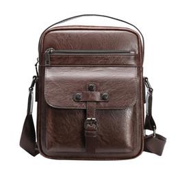Body Bag Sac Australia - Retro Solid Color Handbags Men Leather Shoulder Bag Male Messenger Handbag Packs Casual Crossbody Bags Sac A Main