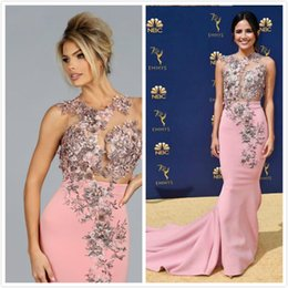 7a6cabbfe0816 Pink floral bridesmaid dresses online shopping - Walter D Floral Appliques  African Evening Dresses Lace Beaded