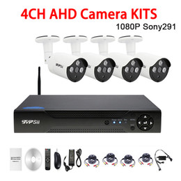 Dvr Channel Cameras Australia - Three Array infrared Led 2mp Sony291 Waterproof 4CH 4 Channel WIFI AHD CCTV Surveillance Camera DVR Kits FreeShipping