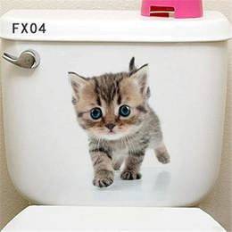 $enCountryForm.capitalKeyWord Australia - 25*16.5cm Vivid Wall sticker Toilet Stickers 3D Cartoon Cute Animal Pattern Wall Decals Home Decoration Beautify