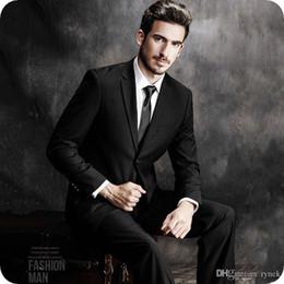 55ac1ed953f Latest Designs Black Men Suits Wedding Man Blazers Jacket Formal Groom  Tuxedos 2Piece(Coat+Pants) Business Suit Slim Fit Terno Masculino